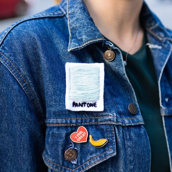 Pantone Obsessed? This DIY Patch Will Be Your Denim Jacket's New BFF
