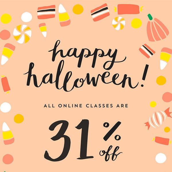 Happy Halloween! Enjoy 31% Off These Spooktacular Classes