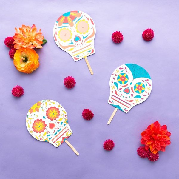 Free Printable Friday: Dia de Los Muertos Sugar Skulls Masks