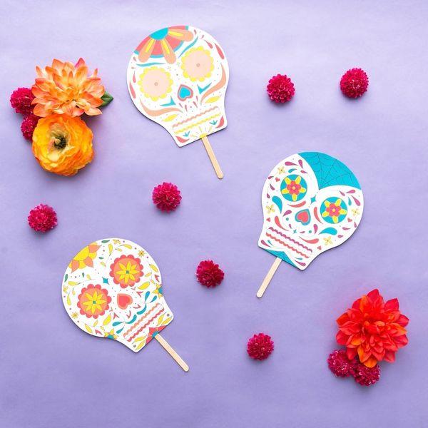Free Printable Friday: Dia de Los Muertos Sugar Skulls Masks