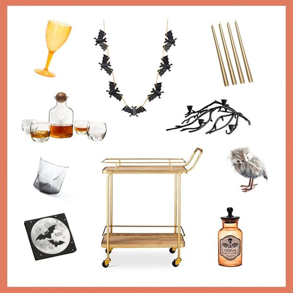 3 Spooky-Chic Ways to Decorate Your Bar Cart for Halloween