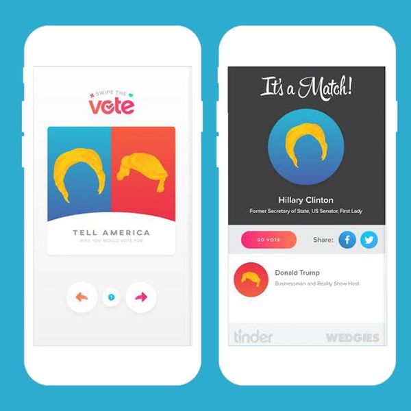 Tinder Wants You to Swipe the Vote