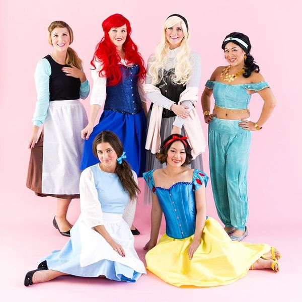 Make Your Dreams Come True With This Disney Princess Group Halloween Costume