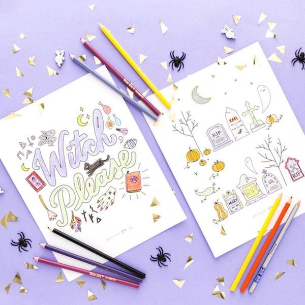 Free Printable Friday: Spooky Halloween Coloring Pages