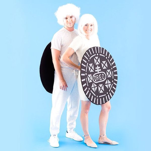 How to Make a Double-Stuffed OREO Costume With Your Boo for Halloween