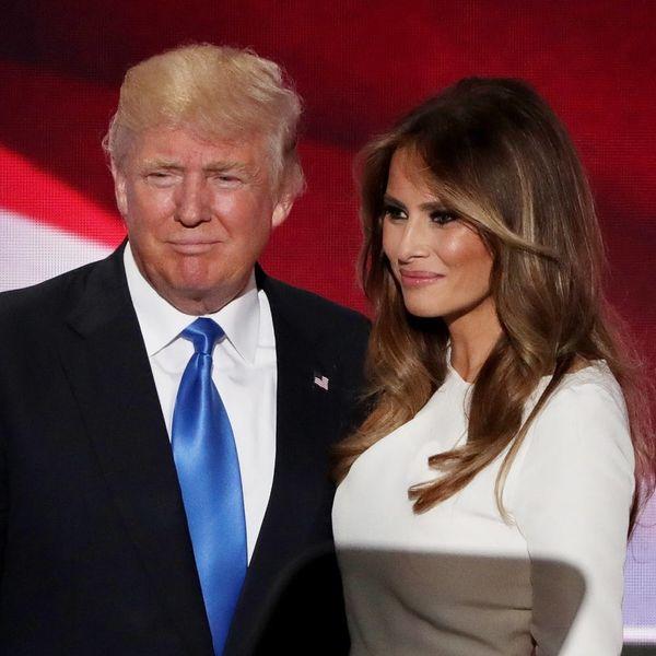 "Melania Trump Defends Donald's Behavior by Calling Him a ""Boy"" Who's Easily Influenced"