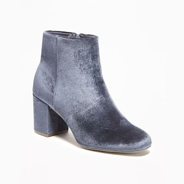 These $45 Old Navy Velvet Ankle Boots Are This Season's Biggest Steal