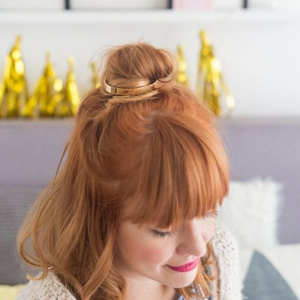How to Turn Your Old Cuff Bracelet into the Trendiest Hair Accessory