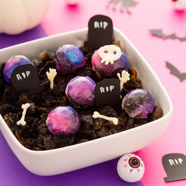 Your Halloween Bash Needs These Midnight Galaxy Donut Holes