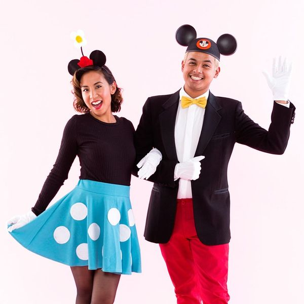 This Mickey and Minnie Mouse Halloween Costume Has #CouplesGoals All Over It