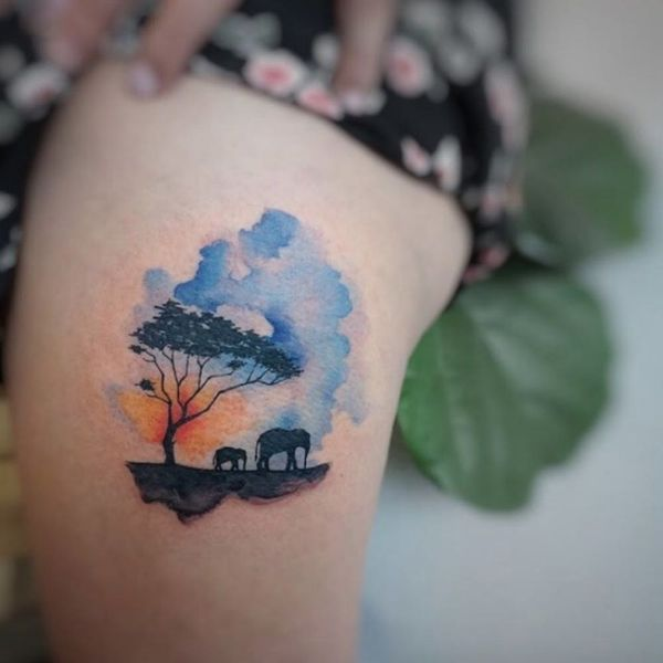 9 Watercolor Tattoos That Will Inspire You to Take the Plunge