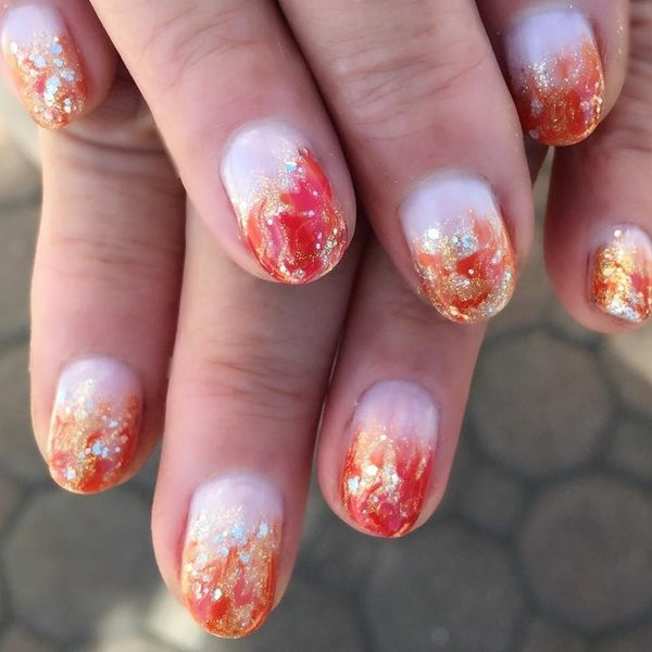35 of the Most Amazing Autumn-Inspired Nail Art Ideas