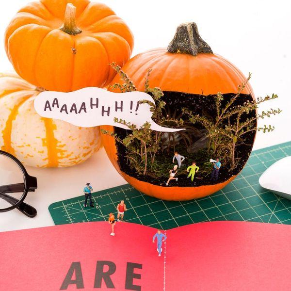 Stranger Things Are Happening in This DIY Mini Jack-O'-Lantern Diorama