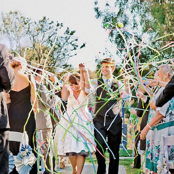 18 Things to Throw at Your Wedding Instead of Rice