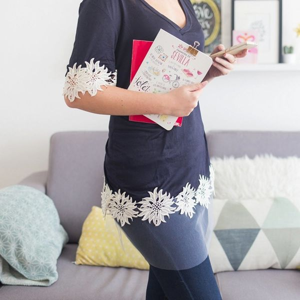 Make Your Summer Tee Fall-Ready With This Simple Sewing Trick