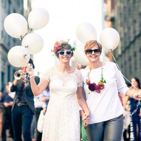 These Brooklyn Brides' Epic Wedding Day Parade Is a Must Watch