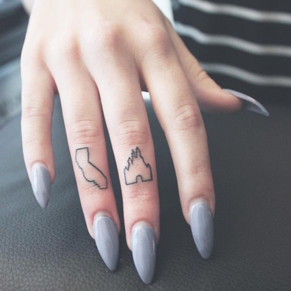 9 Tiny Disney Finger Tattoos You'll Totally Want