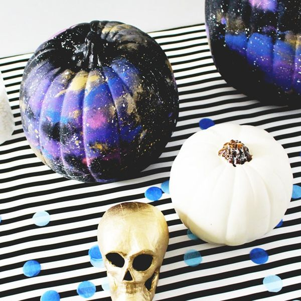 Reach for the Stars With These No-Carve DIY Cosmic Pumpkins