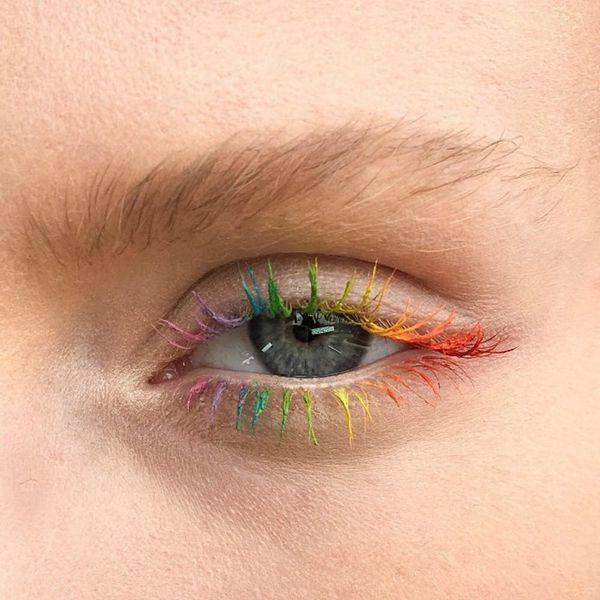 Rainbow Eyelashes Are the Next OMG Beauty Trend