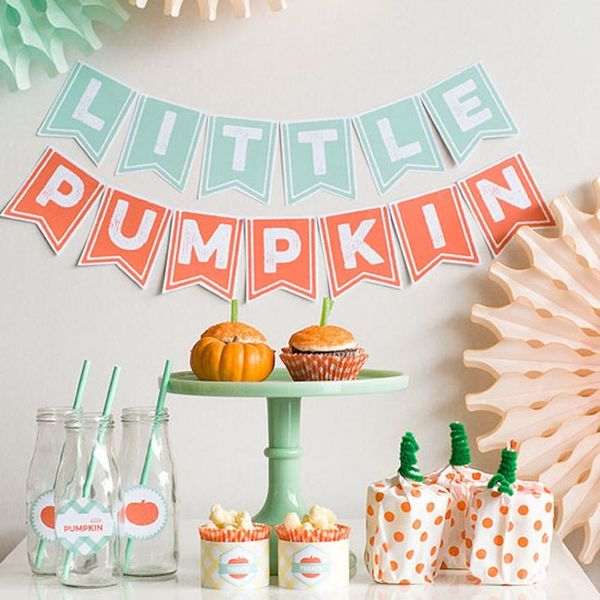 18 Fall-tastic Ideas for a Pumpkin-Themed Baby Shower
