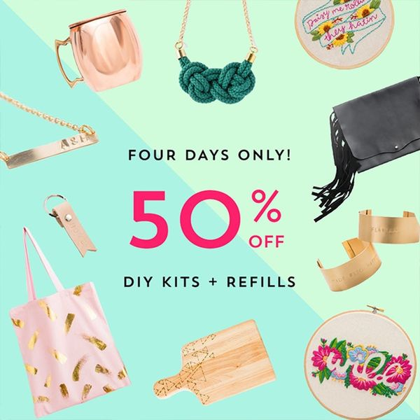 Get 'Em Before They're Gone! 50% Off All DIY Kits in the Brit + Co Shop