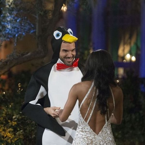 Um, One Bachelorette Dude Showed Up in a Penguin Costume to Meet Rachel Lindsay