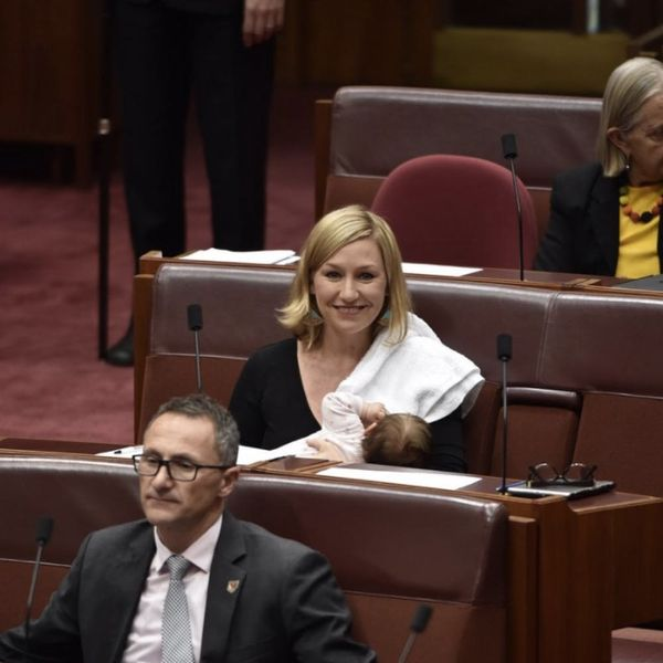 Ladies First: Australian Senator Larissa Waters Just Made History by Breastfeeding Her New Daughter in Parliament