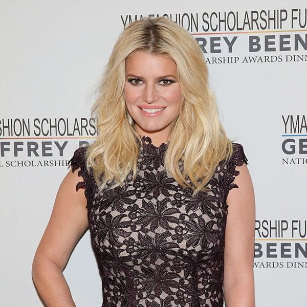 Jessica Simpson Proves Printed Dresses Are Totally Wedding-Appropriate