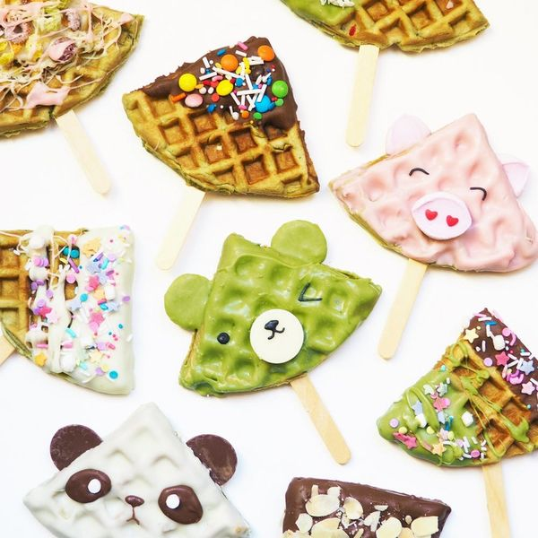 These Cute Green Tea Waffle Pops Are a Matcha Made in Heaven