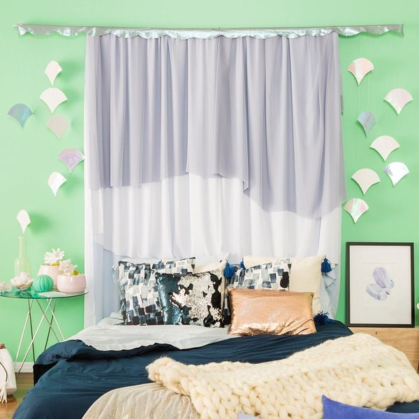 DIY These Dreamy AF Mermaid Curtains in 30 Minutes