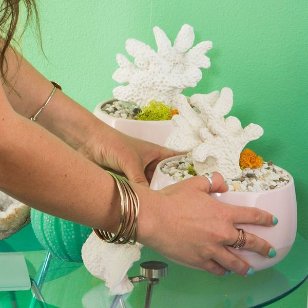 Move Over, Succulents, and Make Room for This Faux Coral DIY