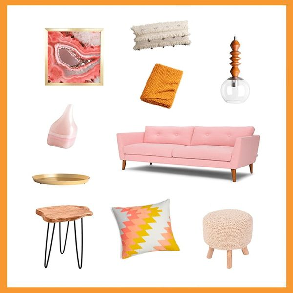 3 Creative Ways to Style a Millennial Pink Couch