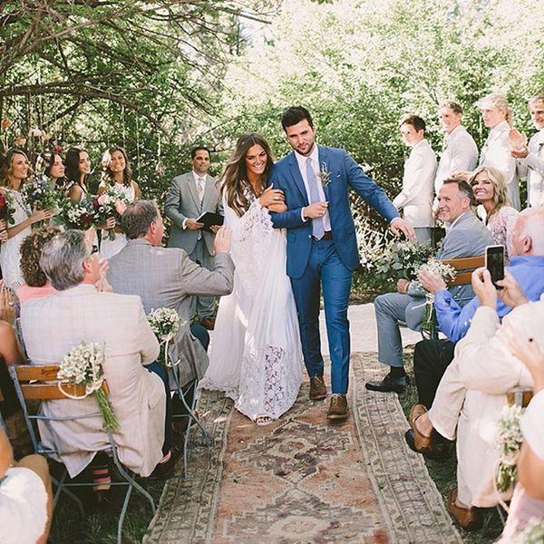This New Rug Aisle Decor Trend Is a Boho Wedding Dream