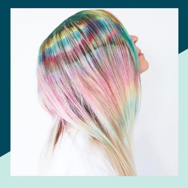 This Rainbow Highlight Hair Trend Is Totally Worth the Upkeep