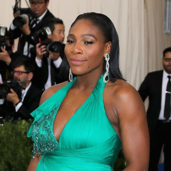 Met Gala 2017: Serena Williams Debuts Her Baby Bump in Graceful Green
