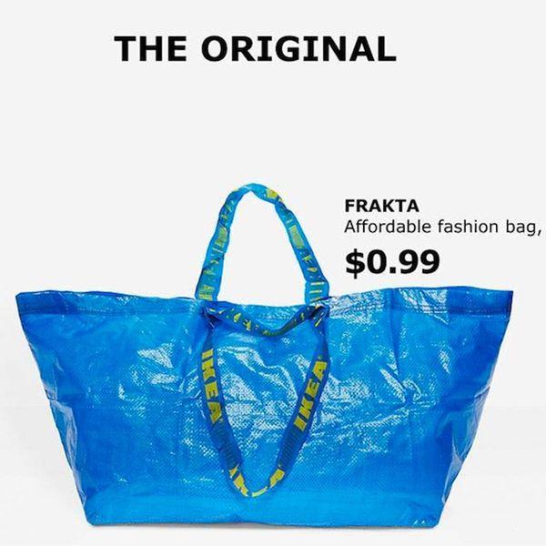 "IKEA Has a Hilarious Response to Balenciaga's ""Knockoff"" of  Their $0.99 Tote"