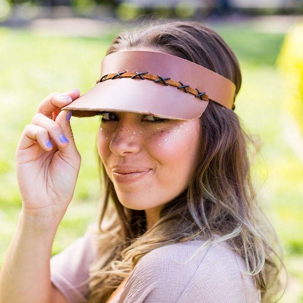 Turn Heads With a DIY Leather Visor This Festival Season