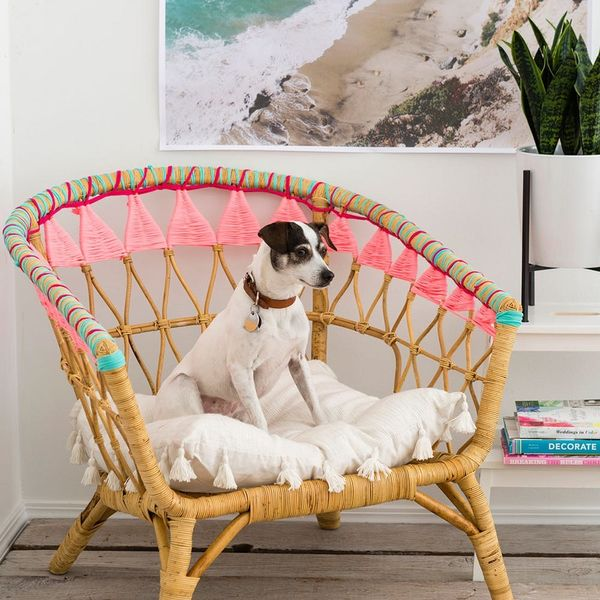 Use This IKEA Hack to Update Your Classic Rattan Chair