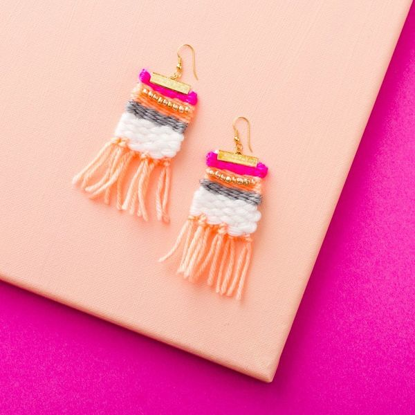 How to Make a Pair of Colorful Statement Earrings for Spring