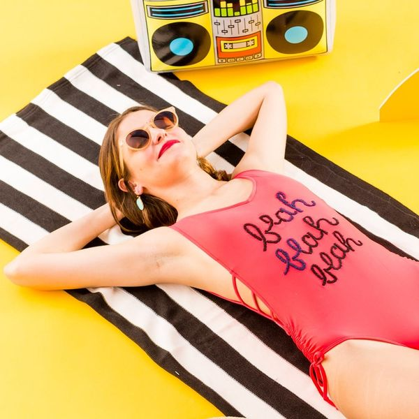 Make a Splash With This DIY Embroidered Target Swimsuit