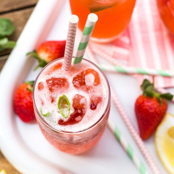 Friends Round? Sun Shining? You'll Need This Spiked Strawberry Basil Lemonade Recipe!