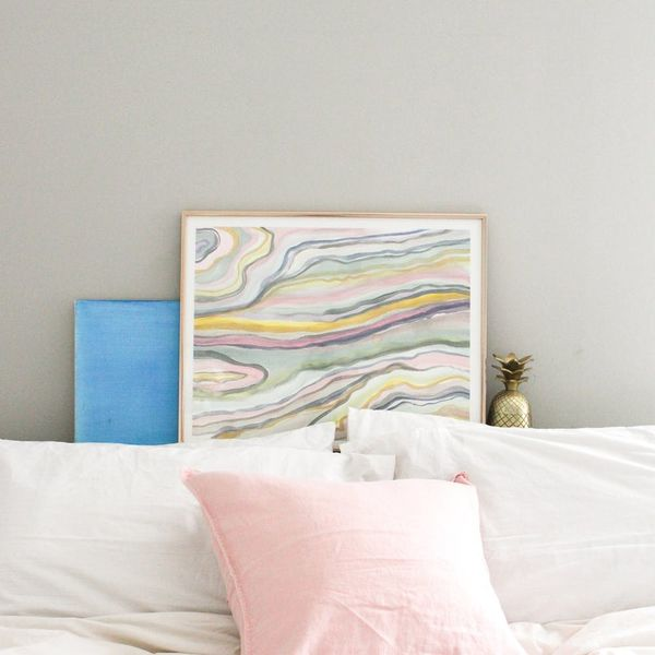 DIY Copycat: Create This Anthro Pastel Wall Art for Pennies