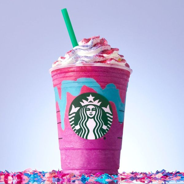 Starbucks' Color-Changing Unicorn Frappuccino Is ACTUALLY Happening