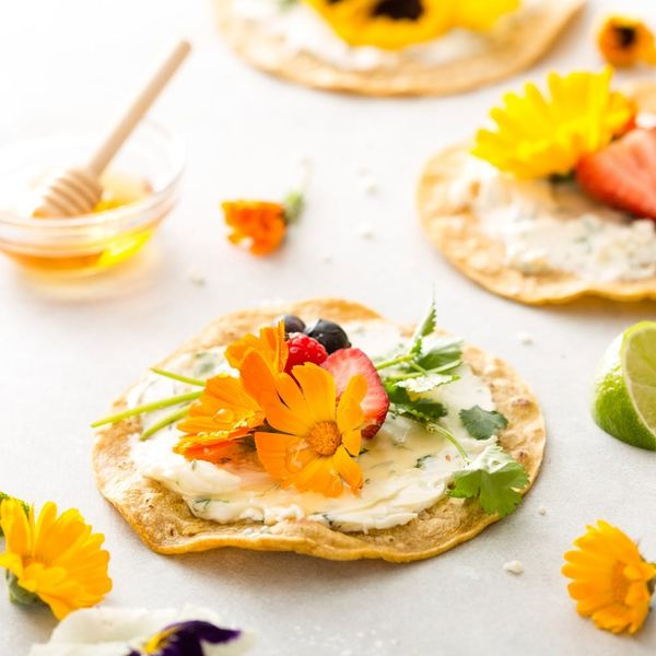 Make Your Own Edible Art Pieces With This Floral Taco Recipe