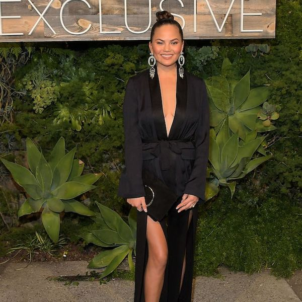 Chrissy Teigen Is All of Us Trying to Squeeze into a Jumpsuit