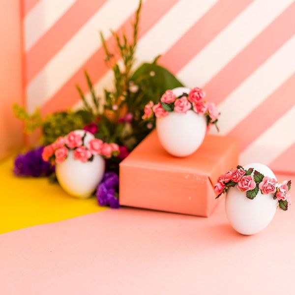 Let Your Easter Eggs Join the Party With Mini DIY Floral Crowns
