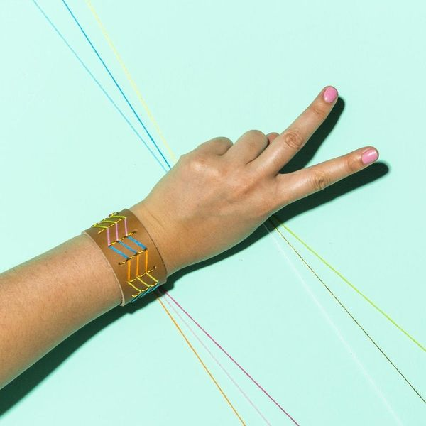 This Embroidered Leather Cuff Is Friendship Bracelet Goals