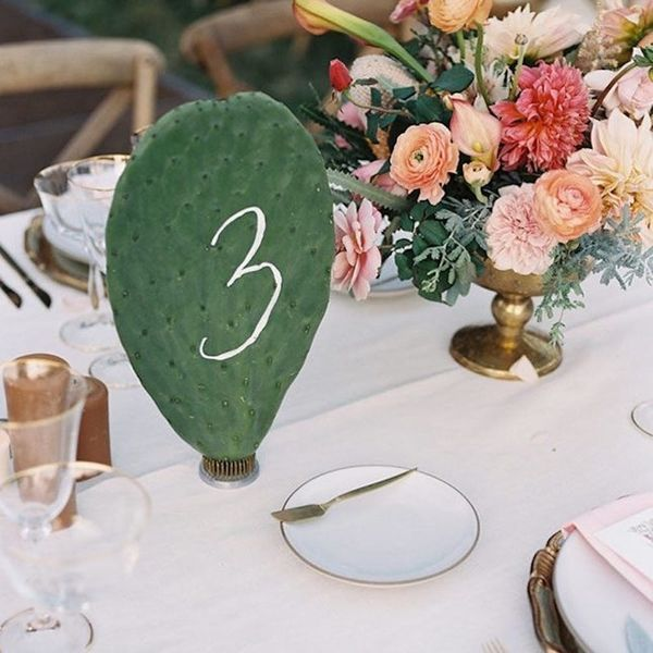 Cactus Wedding Decor Is the 2017 Trend We Can't Get Enough Of