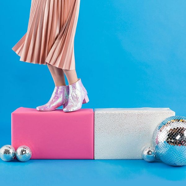 Update Old Booties With This Holographic Trend for Festival Season