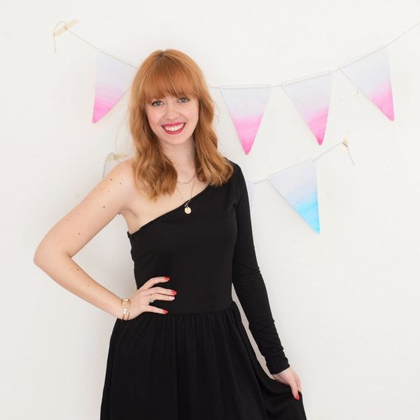 Follow These Easy Steps to DIY This Anthro-Inspired One-Shoulder Dress